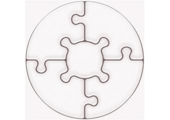 Магнитни пъзели :: Кръг 5 части - Рекламен Дизайн или Вашите снимки!